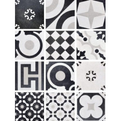 Płytki Fioranese Cementine Black&White Mix 20x20 Rett.Gat.1