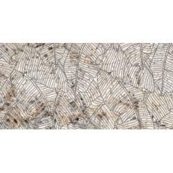 Płytki Ariana Nobile Decoro Foglie Blanc du Blanc 60x120 lux  gat.1