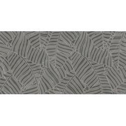 Płytki Ariana Nobile Decoro Foglie Grey Graphite 60x120 lux  gat.1