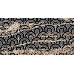 Płytki Ariana Nobile Decoro Ventagli Black Taurus 60x120 lux  gat.1