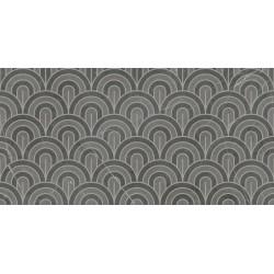 Płytki Ariana Nobile Decoro Ventagli Grey Graphite 60x120 lux  gat.1