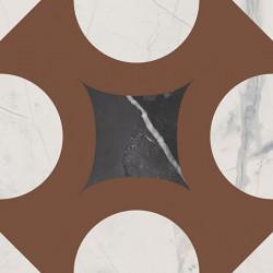 Fioranese Marmorea Intensa Deco Dusty Mauve 20x20 Nat. Rett. Gat.1