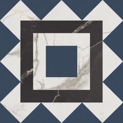 Fioranese Marmorea Intensa Deco Blueberry 20x20 Nat. Rett. Gat.1